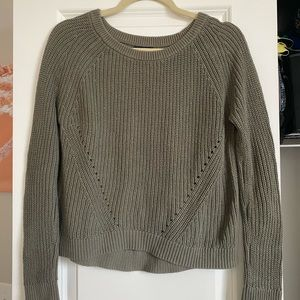 Gap Cropped Sweater - Olive